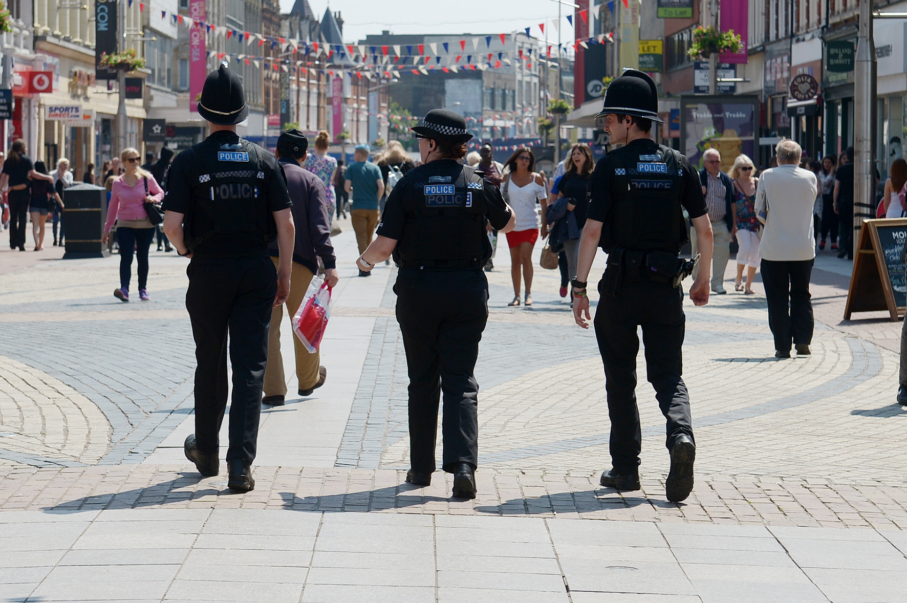 Police in Southend high street