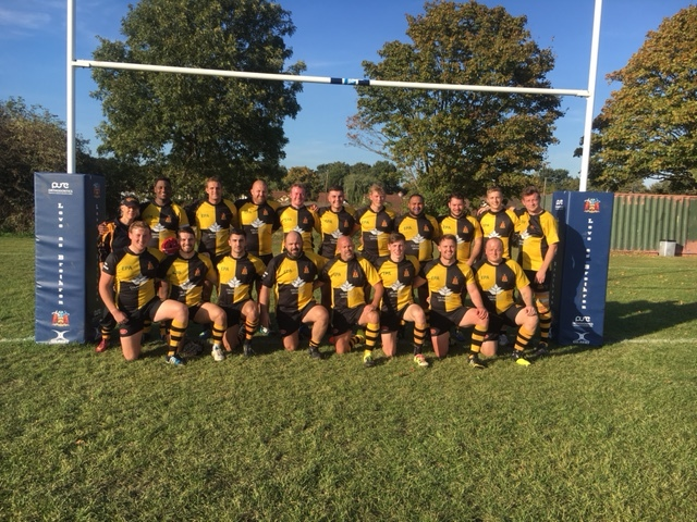 The Braintree Rugby Club first team squad of (from left, back row) Mlambo, Dann, Prince, W Turner, Moss, Meade, Hardin, Rollit-Mason,T Drew, T Carslake, (front row) M Franklin (Physio), M Pickles, J Stanhope, D Olley, Colebrook, Page, Oakley, J Young, D C