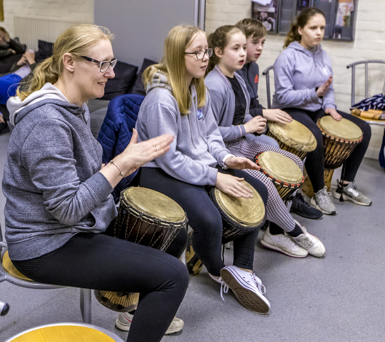 Drumming workshop brings a carnival atmosphere to Witham youth club