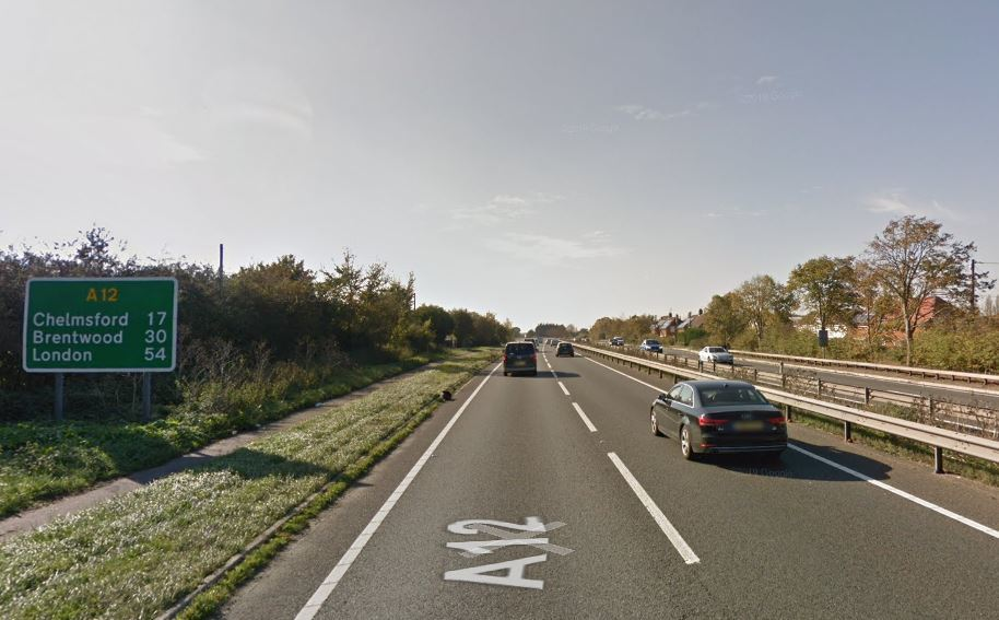 Traffic is slow on the A12 after crash
