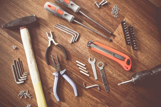Stock image of tools