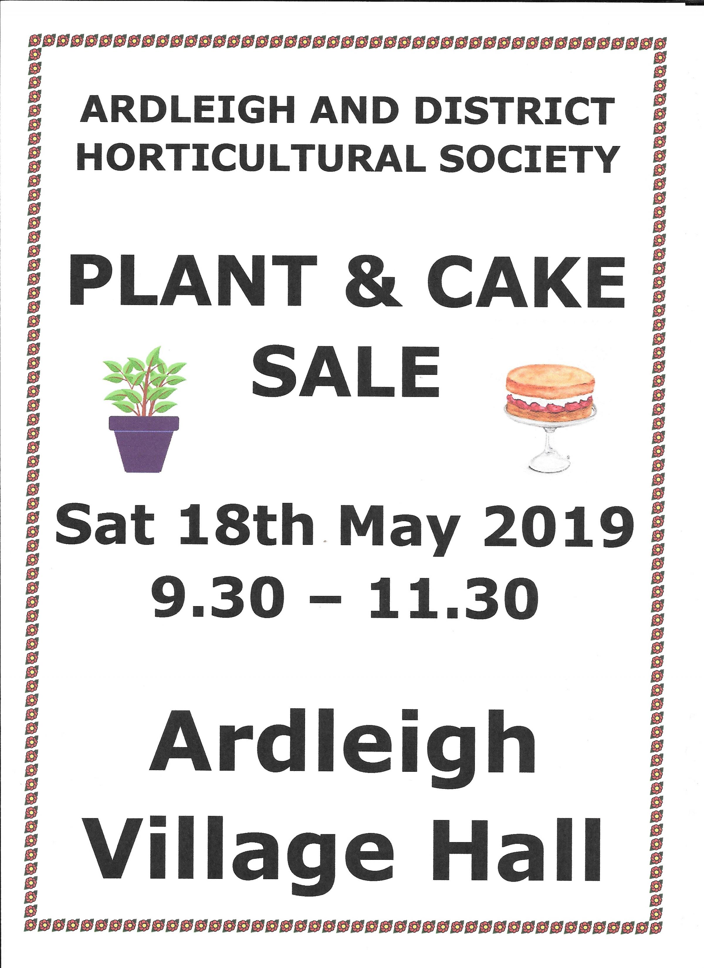 Plant and Cake Sale