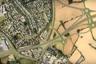 A view of how the new A120 would look at Galleys Corner in Braintree