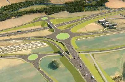 Braintree and Witham Times: How the new junction joining the A120 with the A12 near Kelvedon would look