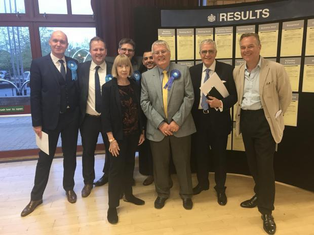 Braintree Council Conservative councillors, including John McKee (second right)