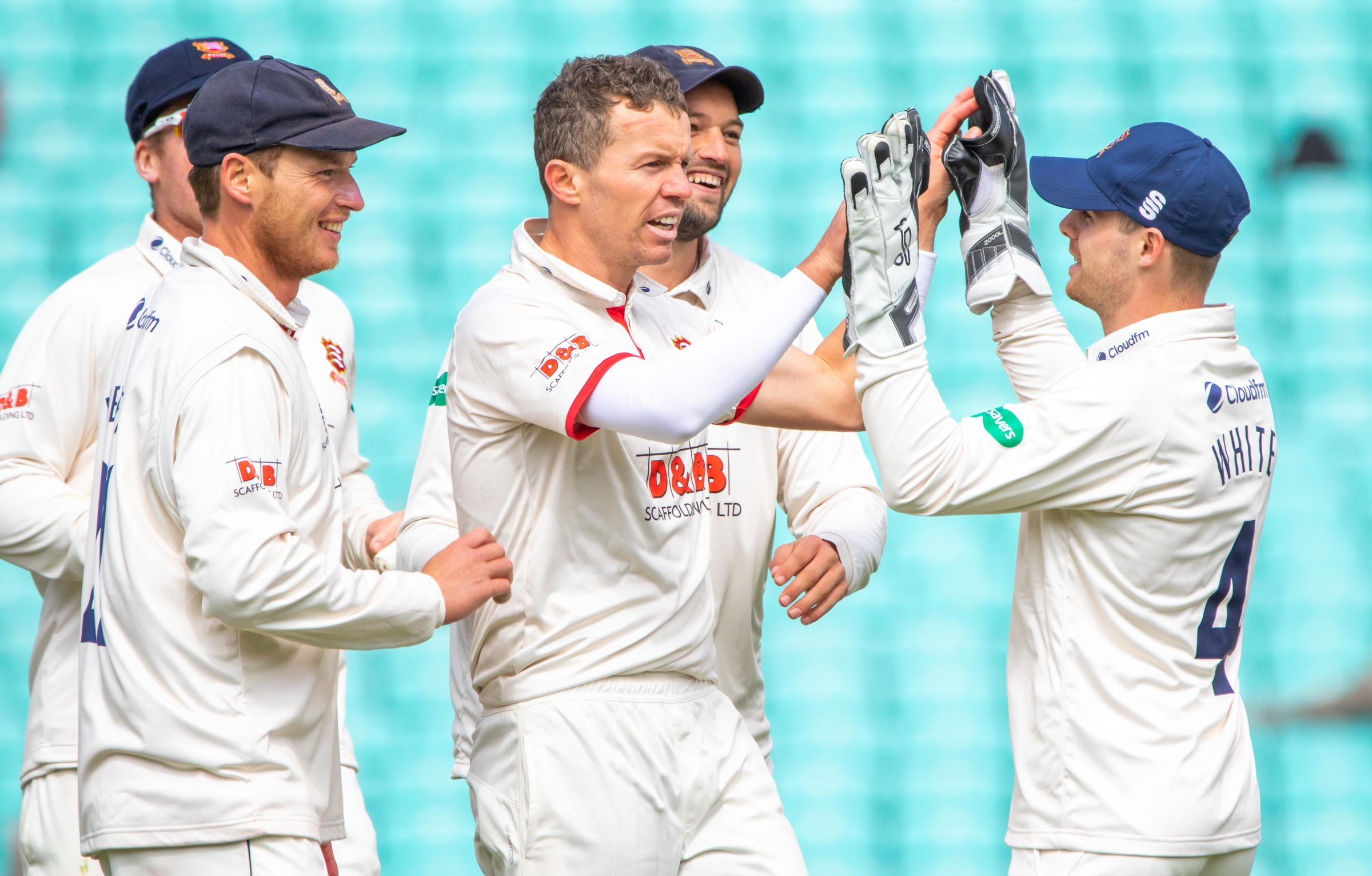 WICKET-TAKER - Peter Siddle is congratulated Picture: BEN PRIOR
