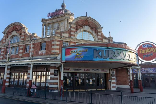 Uncertain future - the historic Kursaal on the seafront