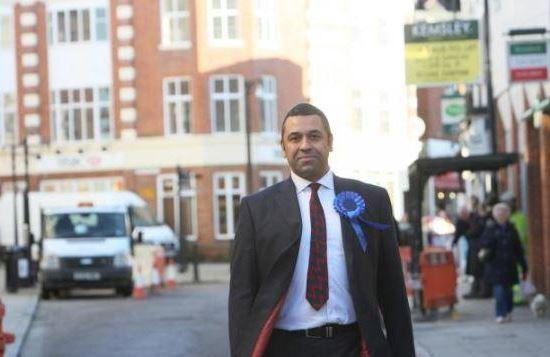 James Cleverly campaigning in Braintree High Street