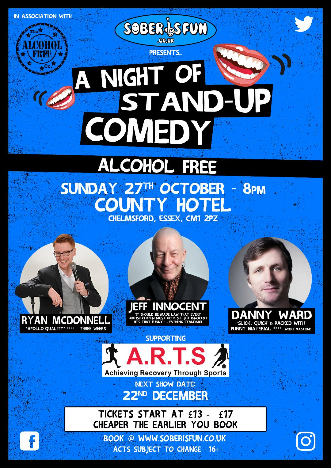 Sober IS Fun  Presents A Night of Alcohol Free Stand - Up Comedy