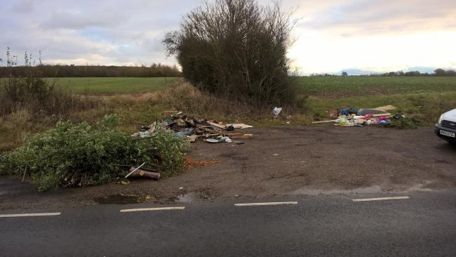 Dumping ground: The lay-by in Coggeshall Road, between Coggeshall and Feering