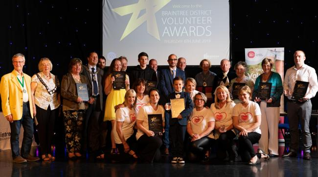 Worthy winners: The winners at the Braintree District Volunteer Awards evening, pictured with their awards