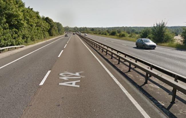 Traffic is building on the A12