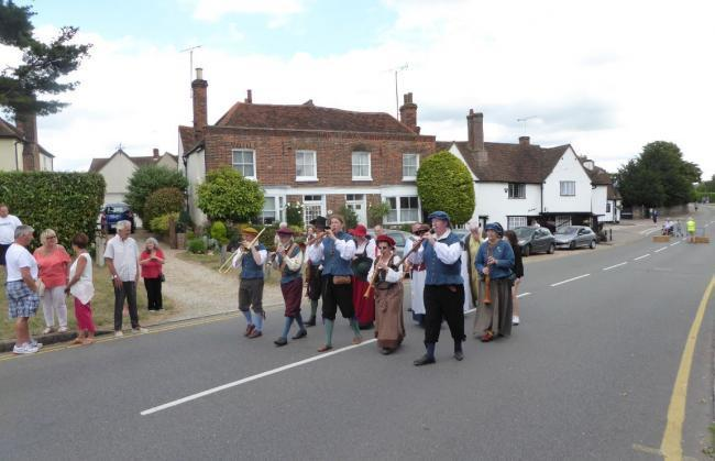 The Colchester Waits performing on Chipping Hill